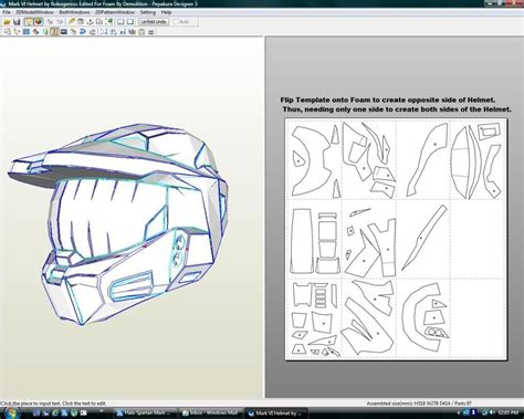 pepakura foam templates halo spartan vi foam files complete armour files
