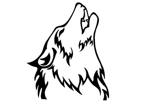 Wolf Head Cliparts  And Others Art Inspiration sketch template