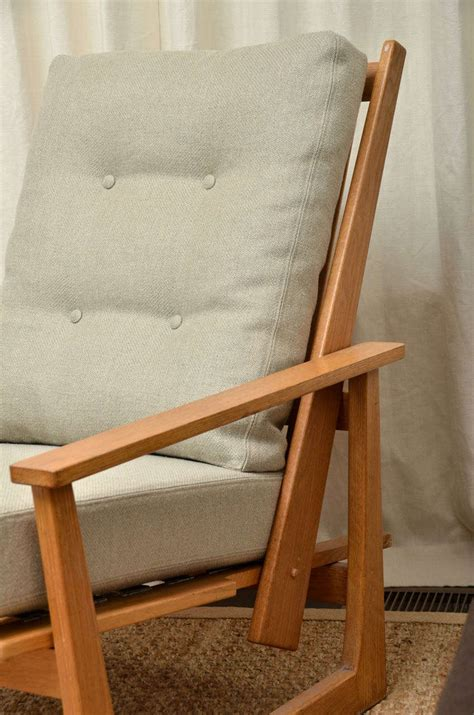 wooden reclining chair reclining wooden lounge chair at 1stdibs