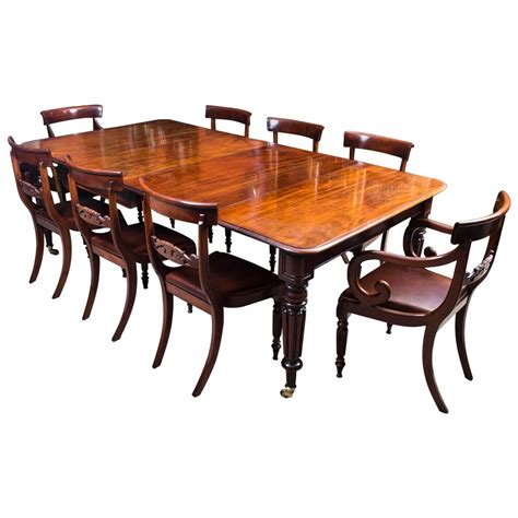 Dining Table And 8 Chairs Antique Regency Gillows Dining Table 8 Regency Chairs