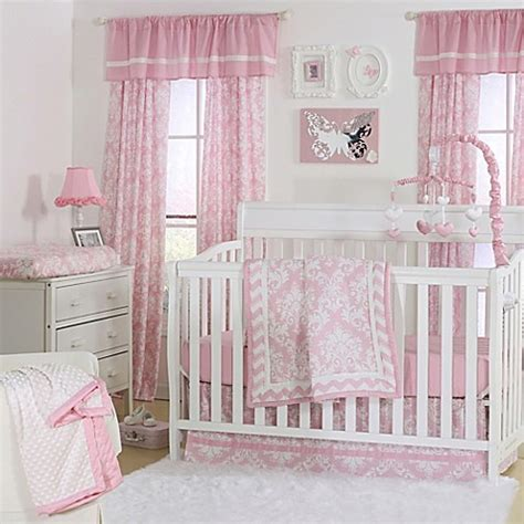 Pink And White Damask Crib Bedding The Peanut Shell 174 Damask Crib Bedding Collection In Pink Buybuy Baby
