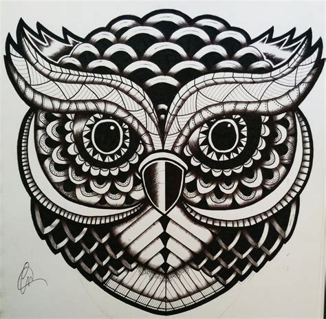 zentangle tattoo zentangle owl by lukemac on deviantart