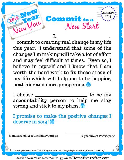 Commitment Letter After New Year New You 2014 Archives Home After