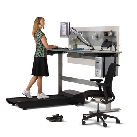 Walking Computer Desk Sit To Walkstation Treadmill Desk Sit Stand Or Walk The Green