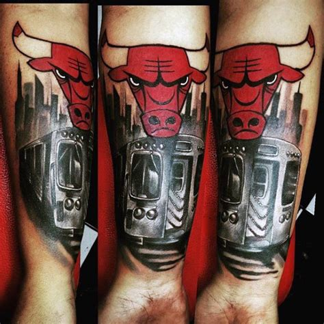 chicago bulls tattoos 50 chicago bulls designs for basketball ink ideas