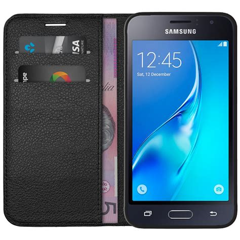 Casing Samsung J1 2016 Of The Caribbean Custom Hardcase leather wallet samsung galaxy j1 2016 black