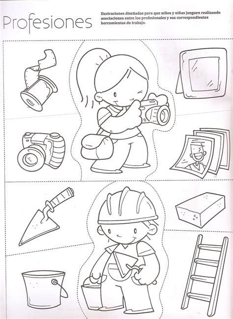 imagenes para colorear oficios y profesiones recursos y actividades para educaci 211 n infantil con los que