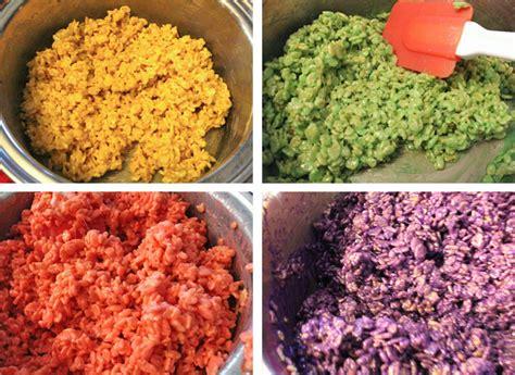 colored rice krispie treats conversation hearts rice krispie treats two