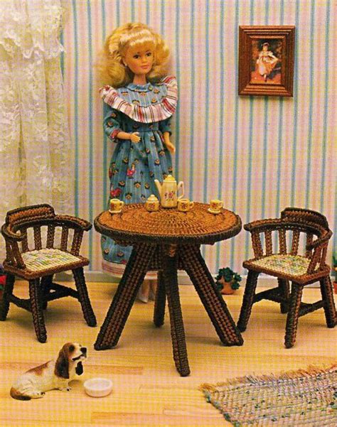 fashion doll furniture patterns 17 best images about plastic canvas furniture on