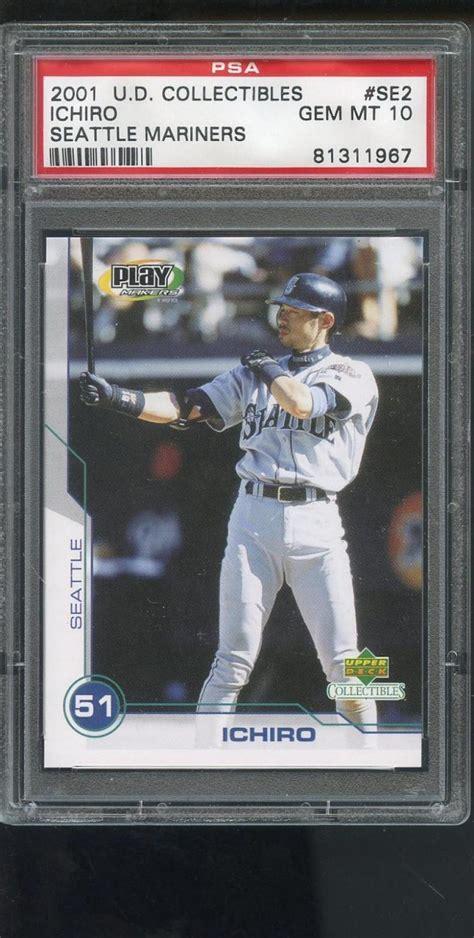 Ichiro Suzuki Rookie Card 2001 Deck Ud Collectibles Play Makers Se2 Ichiro