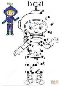astronaut letters dot dot free printable coloring pages