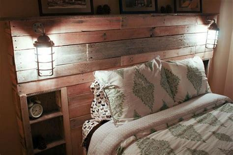 diy pallet beds with lights diy pallet headboard with lights pallet wood projects