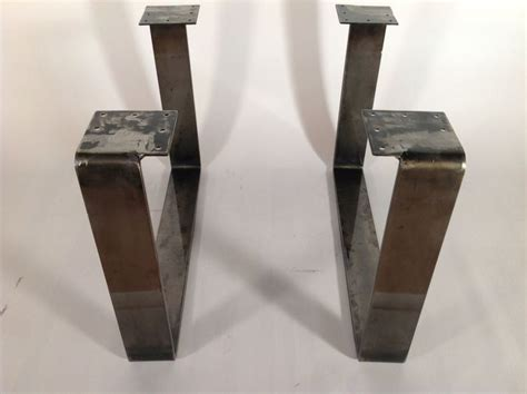 Metal Coffee Table Legs For Sale 15 Quot X21 Quot Powder Coated Coffee Table Legs Flat Steel Set 2
