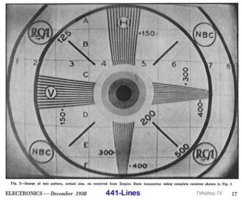 tv test pattern watch 1938 electronics magazine usa