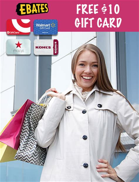 Ebates Target Gift Card - ebates free 10 gift card target walmart kohl s more coupons and deals