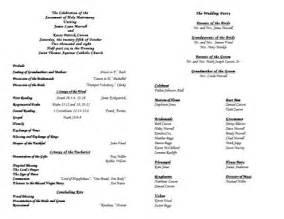 catholic wedding mass booklet template catholic wedding program template 3 wedding programs