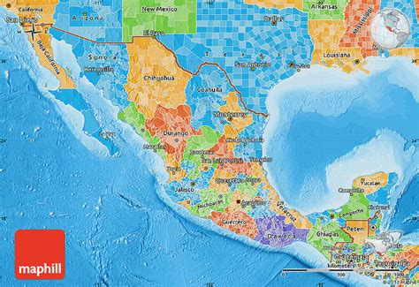 political map mexico political map of mexico