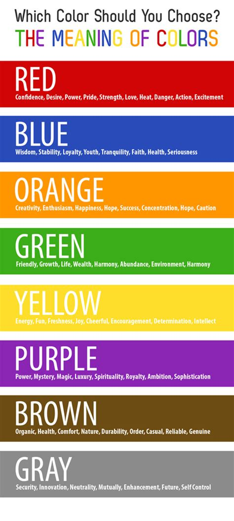 color meanings choosing the right color sunny slide up