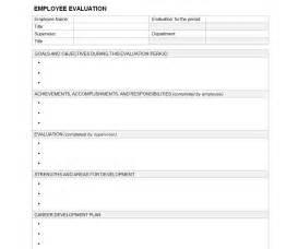 Employee evaluation template employee evaluation sheet