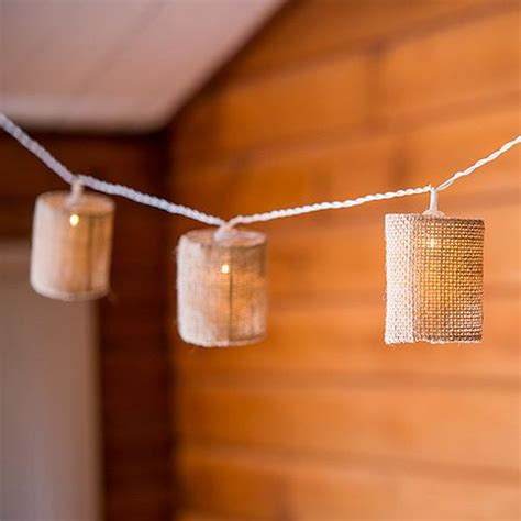 burlap lantern string lights led string lights with burlap shades cake weddings favors and custom gifts