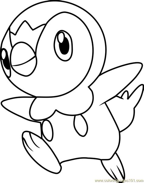 pokemon coloring pages of piplup piplup pokemon coloring page free pok 233 mon coloring pages
