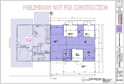 barn floor plans with living quarters preliminary plans horse barn living quarterscopyrights