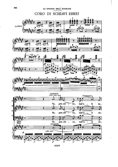 testo va pensiero file verdi nabucco vocal score iii 4 chorus of hebrew