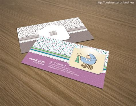 babysitting business cards templates free printable free babysitting business card template for photoshop