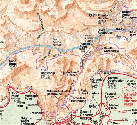 grand map and guide rufus guides map guide to grand south