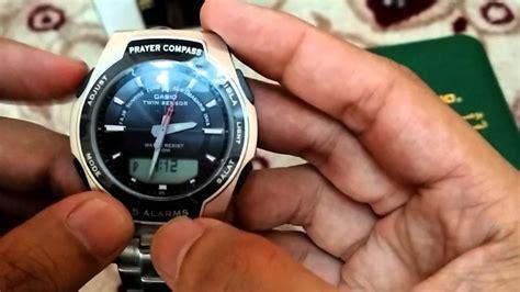 Jam Casio Dengan Kompas Kiblat jam casio kiblat setting jam
