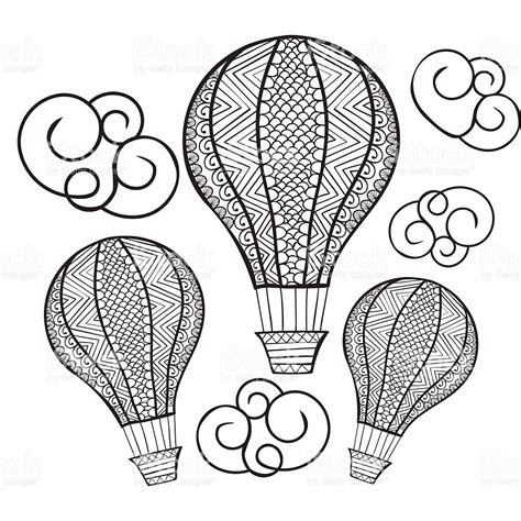 balloon doodle vector free vector doodle air balloon illustration
