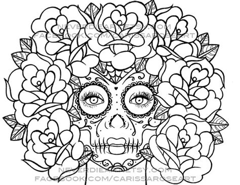 hard rose coloring pages digital download print your own coloring book by neverdieart