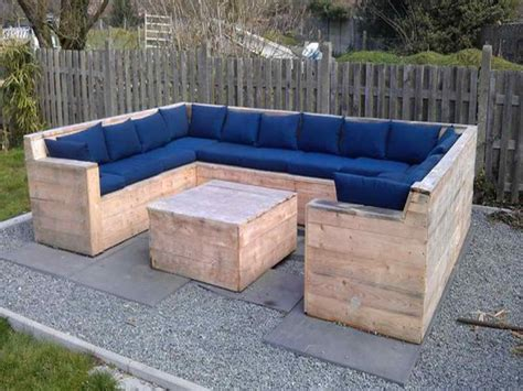 diy patio sofa furniture pallet patio furniture ideas with blue color