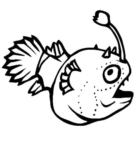 coloring pages of angler fish free coloring pages of deep sea angler fish