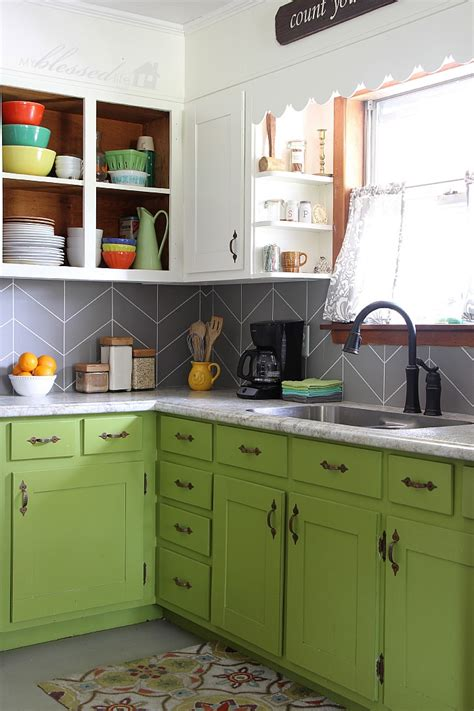 Backsplash Kitchen Glass Tile by Diy Herringbone Tile Backsplash