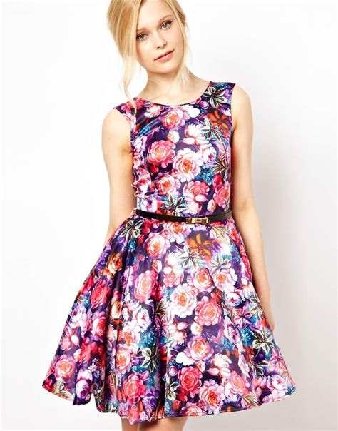 Flowery Dress painted floral dress fashion in prom dresses and