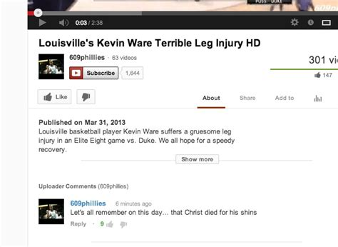 kevin ware bench reaction louisville s bench reacts to kevin ware s leg injury