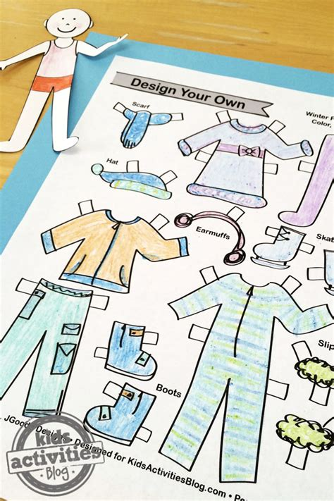 design winter clothes design your own winter paper doll set kids printable