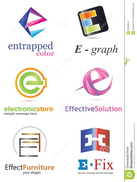e design letter e logo stock vector illustration of graphic