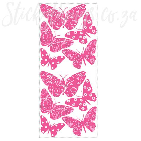 velvet wall stickers feels like velvet butterfly wall stickers pink butterfly
