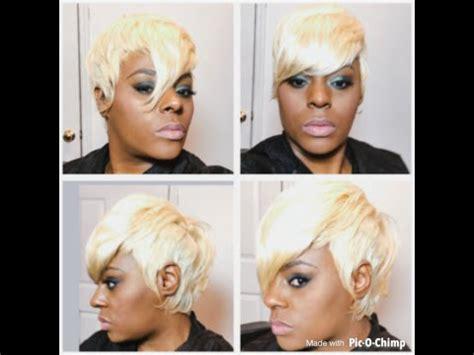 platinum blonde 27 piece weave pictures blonde short cut 27 piece closure youtube