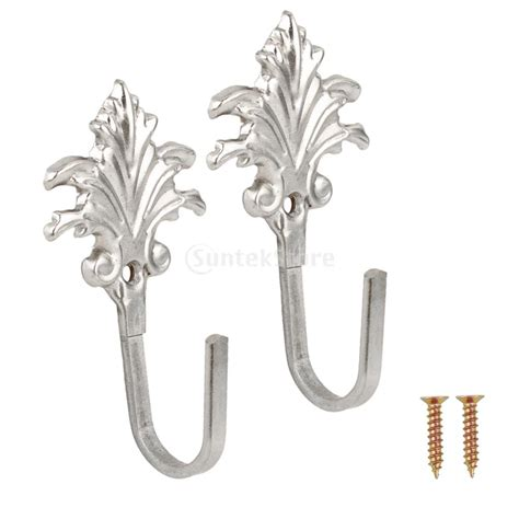 curtain tassel hooks 2pcs vintage maple leaves curtain tieback tassel hooks