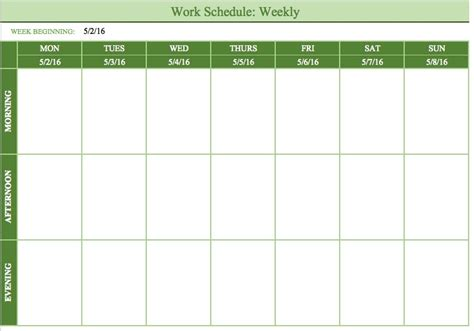 printable weekly work schedule clickuk org