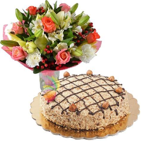 torta mazzo di fiori torta alla nocciola spediamo fiori dolci e regali a