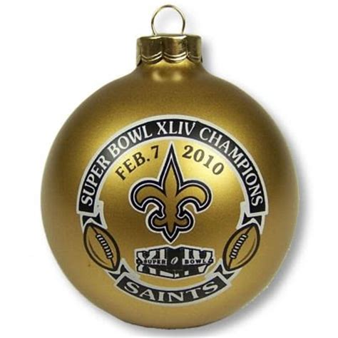 New Orleans Ornaments - tree ornaments glass balls new orleans saints glass