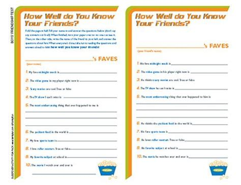 printable quiz what kind of friend are you how well do you know your friend quiz slumber party games