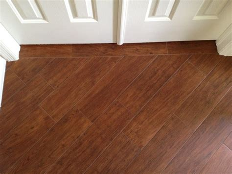 Would Porcelain Tile That Looks Like Wood Make A Countertop Kitchen Porcelain Plank Wood Look Tile Installations Ta Florida Ta By Ceramictec