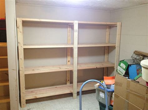 garage shelves built  basement storage