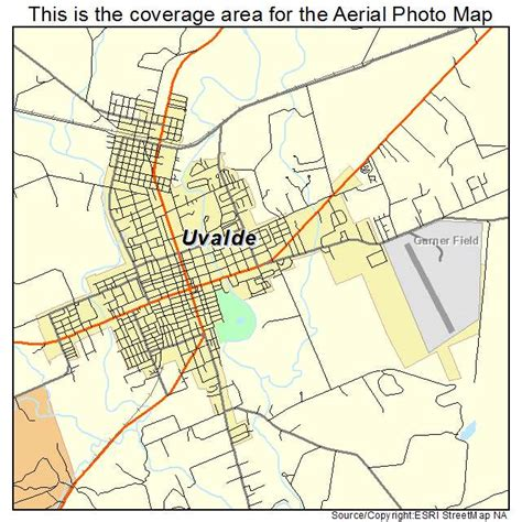 uvalde texas map aerial photography map of uvalde tx texas