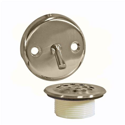 Bathtub Drain Kit by Danco Trip Lever Tub Drain Kit In Brushed Nickel 89242